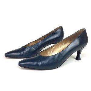 Stuart Weitzman 8.5 AA Navy Blue Heels
